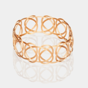 Gold Woven Bracelet Gold-plated stainless steel