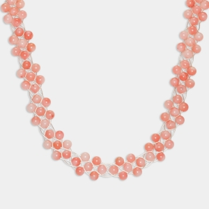 Bridal Necklace With Coral Beads Jewelry,Necklaces