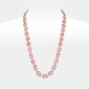 Bridal Necklace With Pink Pearls Freshwater pearls
