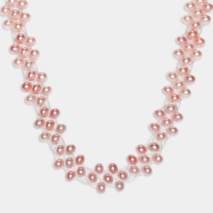 Bridal Necklace With Pink Pearls Jewelry,Necklaces