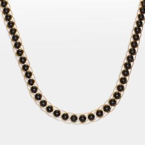 Gold Necklace With Black Onyx Jewelry,Necklaces