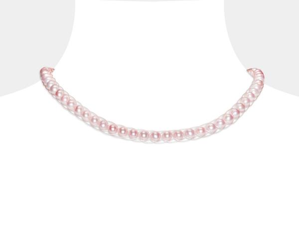 Pink Pearl Choker Freshwater pearls