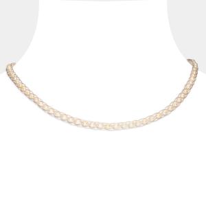 White Pearl Choker Freshwater pearls
