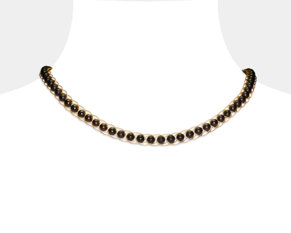 Gold Choker With Black Onyx Onix