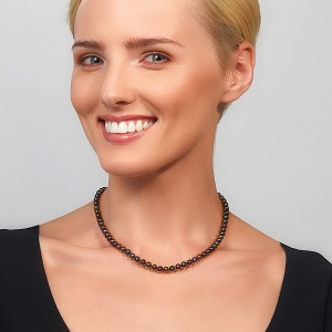 Black Pearl Choker Gold-plated stainless steel