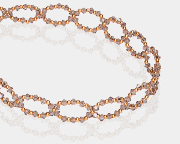 Greige Swarovski Crystal Headband Hair accessories,Headbands