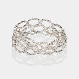 Swarovski Crystal Headband Silver Transparent