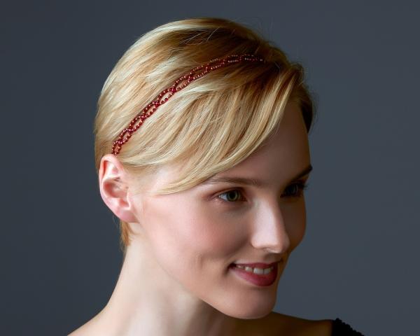 Ruby Swarovski Crystal Headband Gold-plated stainless steel