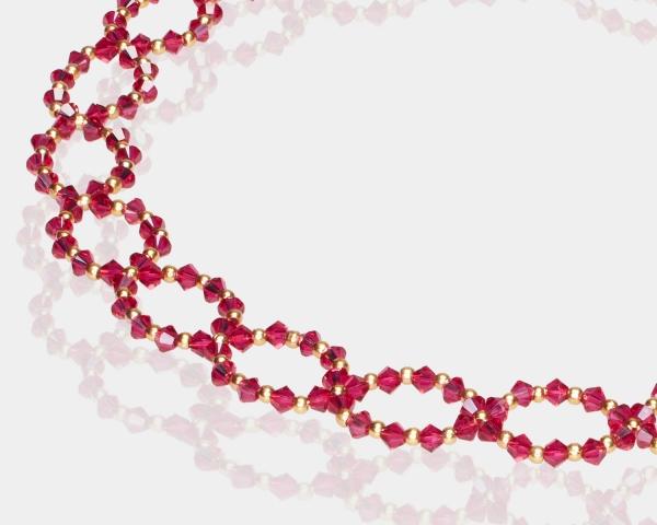 Ruby Swarovski Crystal Headband Hair accessories,Headbands