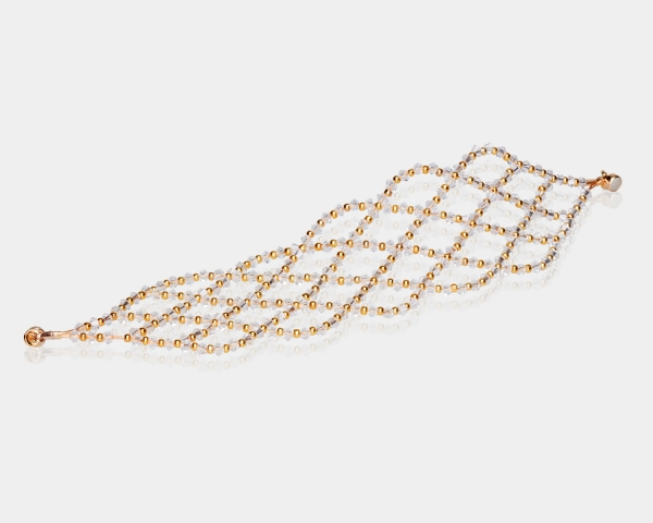 Wide Swarovski Crystal Bracelet
