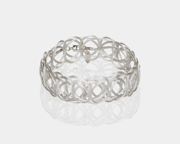 Silver Woven Headband Silver