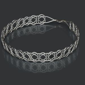 Silver Woven Headband