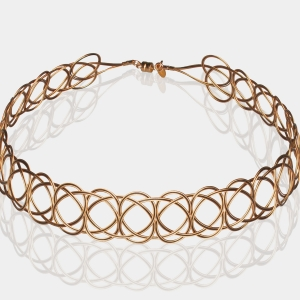 Gold and Black Woven Headband Black stainless steel