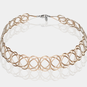 Silver and Gold Woven Headband Gold-plated stainless steel