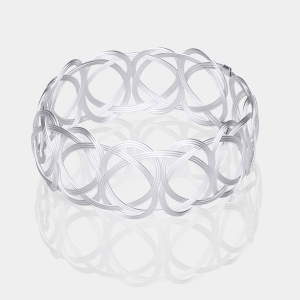 Silver Woven Bracelet Silver-plated stainless steel
