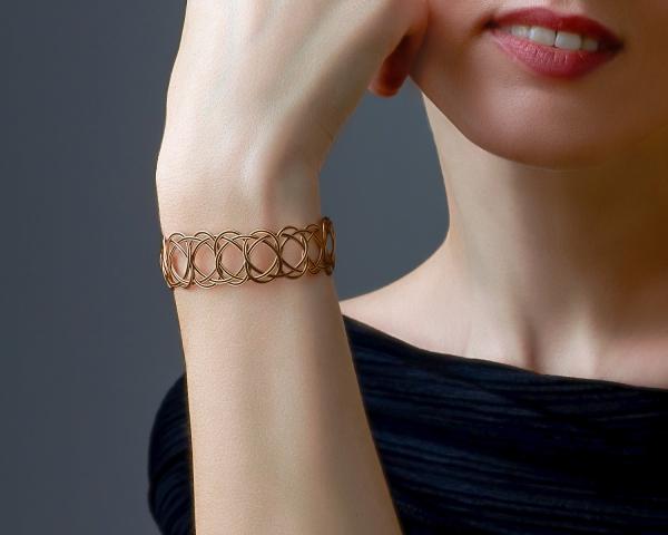 Gold and Black Woven Bracelet Black stainless steel
