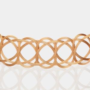 Gold Woven Choker Necklace Jewelry,Choker