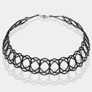 Black Woven Choker Necklace