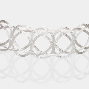 Silver Woven Choker Necklace Jewelry,Choker