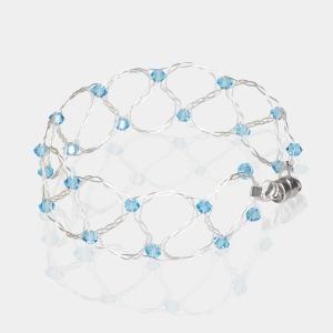 Silver Bracelet With Aquamarine Swarovski Crystals