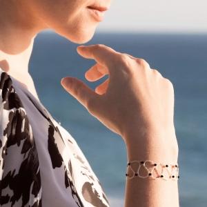 Silver Bracelet With Jet Swarovski Crystals Swarovski crystals