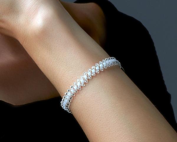 Jeweled Bracelet With White Swarovski Crystals Swarovski crystals