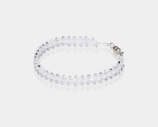 Jeweled Bracelet With White Swarovski Crystals
