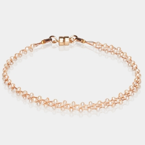 Jeweled Bracelet With Beige Pearls Gold-plated stainless steel