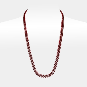 Jeweled Necklace With Ruby Swarovski Crystals Swarovski crystals