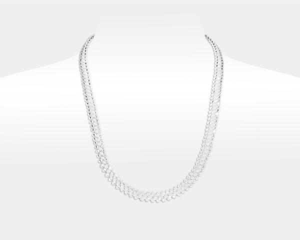 Jeweled Necklace With White Swarovski Crystals Swarovski crystals