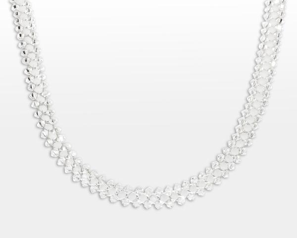 Jeweled Necklace With White Swarovski Crystals Jewelry,Necklaces