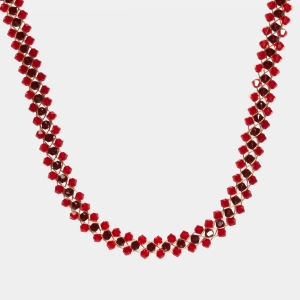 Jeweled Necklace With Red Swarovski Crystals Jewelry,Necklaces