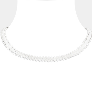 Jeweled Choker With White Swarovski Crystals Swarovski crystals