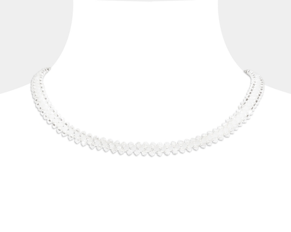 Jeweled Choker With White Swarovski Crystals Swarovski crystals