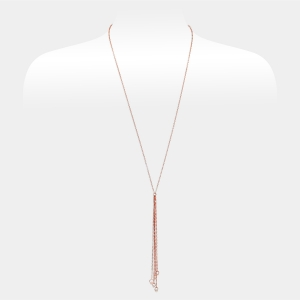 Long Rose Gold Chain Necklace With Swarovski cristals Swarovski crystals