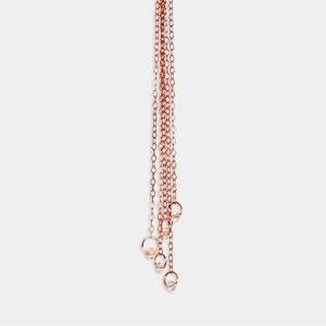 Long Rose Gold Chain Necklace With Swarovski cristals Jewelry,Necklaces