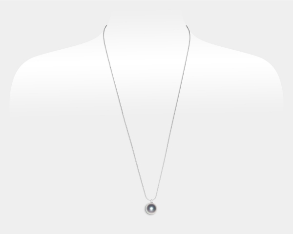 Sterling Silver Necklace With Grey Southsea Shell Pearl Southsea shell pearl