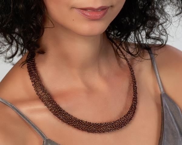 Bronze Jeweled Headband Magnetic clasp