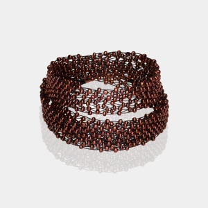 Bronze Jeweled Headband Black Copper