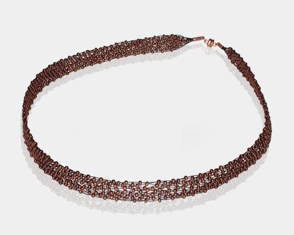 Bronze Jeweled Headband Glass beads