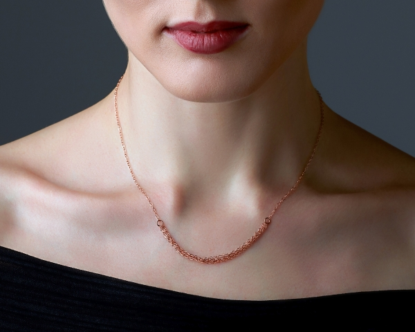 Rose Gold Chain Necklace Rose gold plated Sterling silver