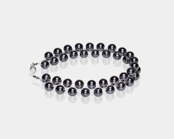 Bracelet With Hematite Beads