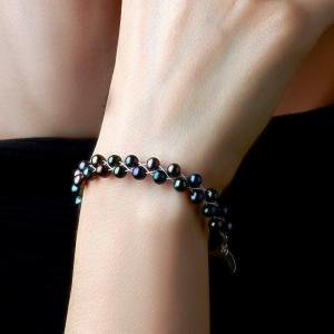 Bracelet With Black Pearls Freshwater pearls