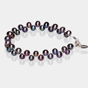 Bracelet With Black Pearls