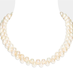 Large White Pearl Necklace Freshwater pearls