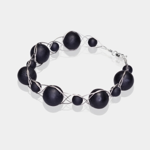 Silver Bracelet With Black Onyx