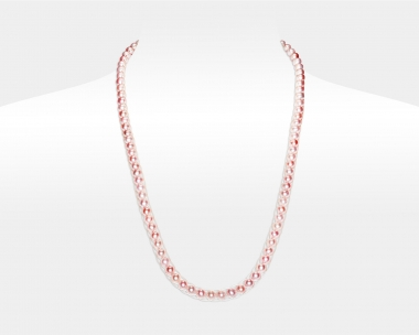 Freshwater Pink Pearl Silver Headband Magnetic clasp