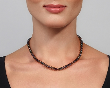 Freshwater Black Peacock Pearl Gold Choker Necklace Jewelry,Choker