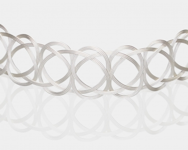 Sterling SilverPlated Steel Woven Choker Necklace